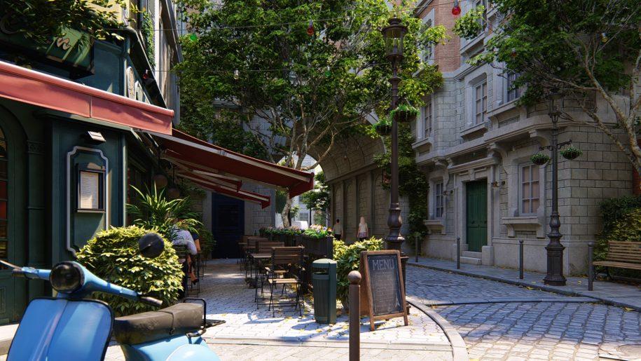 Paris Street - Moto Angle